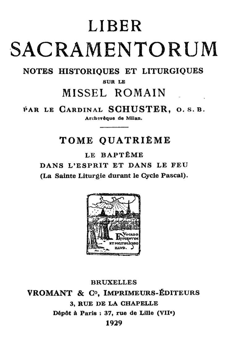 LIBERNOTES HISTORIQUES ET LITURGIQUES                          SUR LE          MISSEL             ROMAINPAR LE CARDINAL S ...
