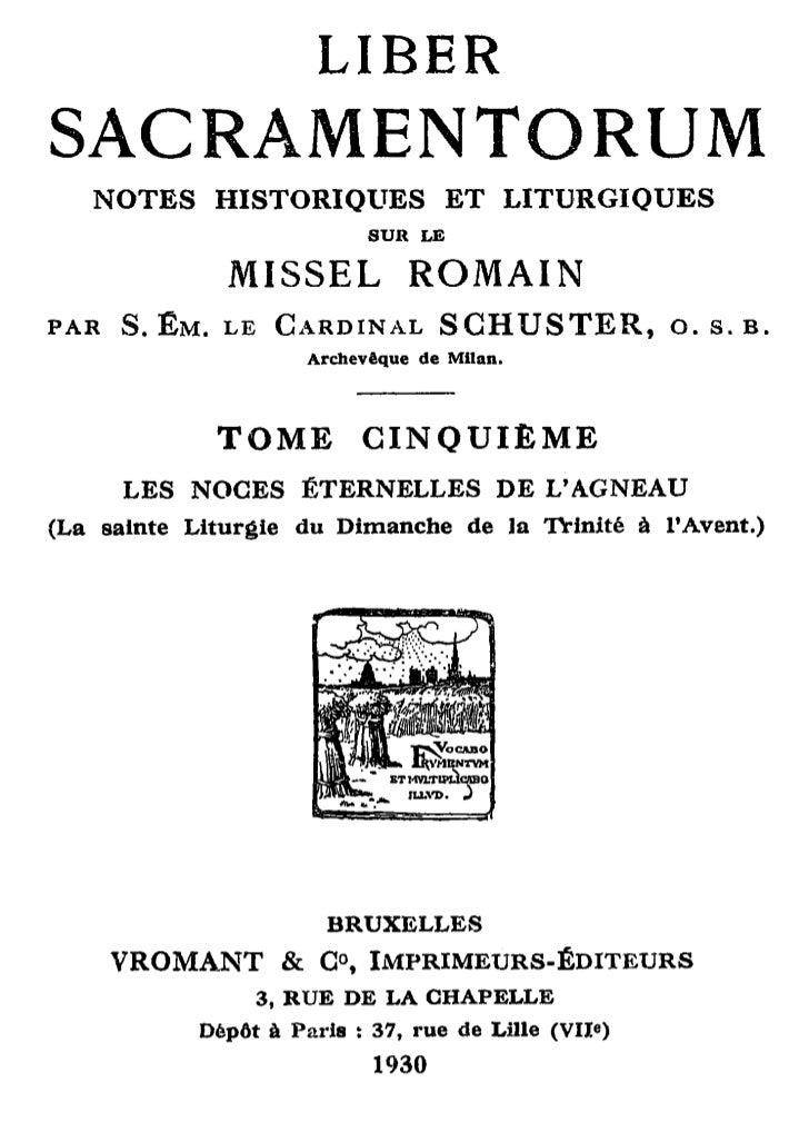LIBERSACRAMENTORUM   NOTES     HISTORIQUES            ET      LITURGIQUES                           SUR LE              MI...