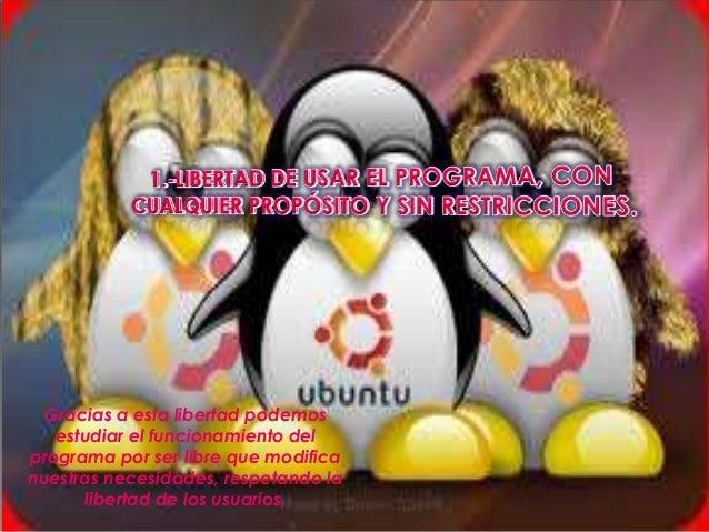 Libertades del software libre Slide 3