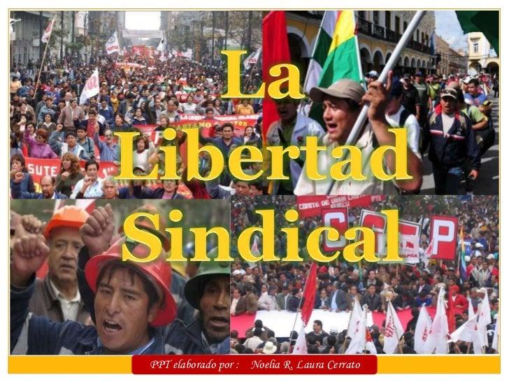La Libertad Sindical<br />PPT elaborado por :    Noelia R. Laura Cerrato<br />