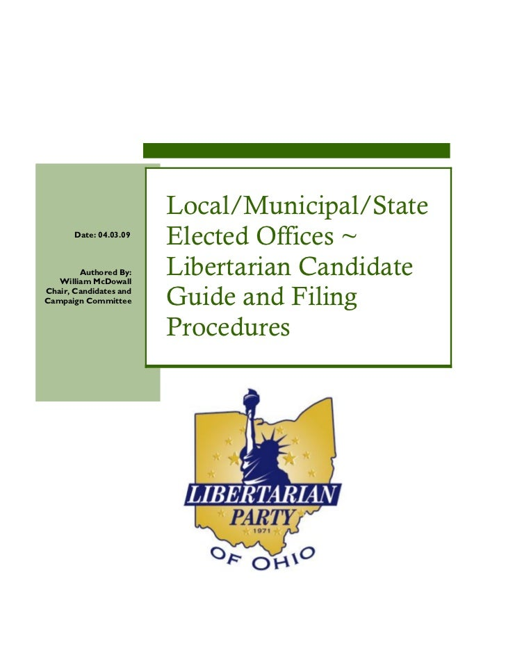 Local/Municipal/State       Date: 04.03.09                        Elected Offices ~        Authored By:   William McDowall...