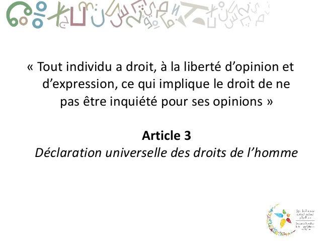 Liberté d'expression créative en Algérie Slide 2