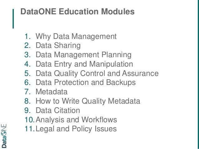 Quality Assurance and Metadata
