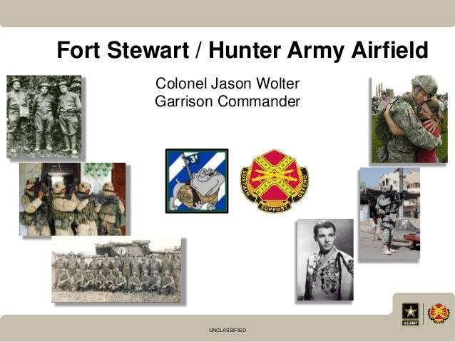 UNCLASSIFIED Fort Stewart / Hunter Army Airfield Colonel Jason Wolter Garrison Commander