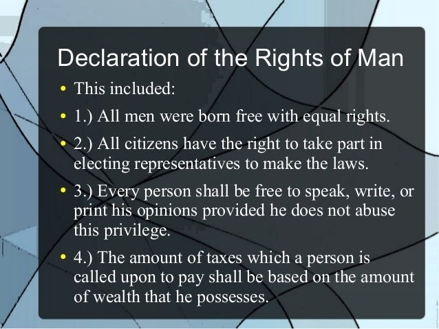 Declaration Of The Rights Of Man Definition