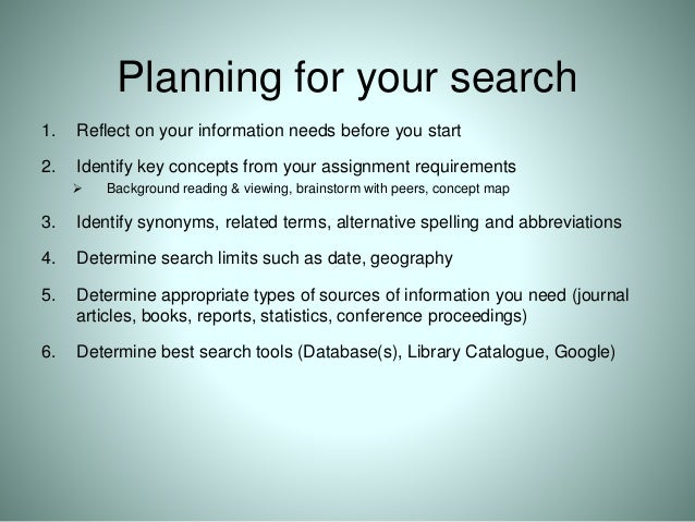searching tips