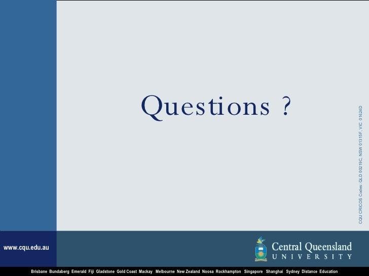 <ul><li>Questions ? </li></ul>