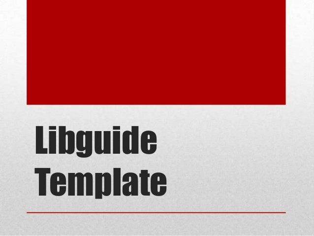 LibguideTemplate