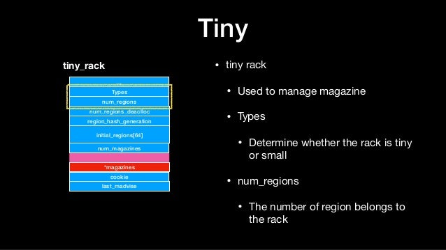 Tiny • tiny rack  • Used to manage magazine  • Types  • Determine whether the rack is tiny or small  • num_regions  • The ...
