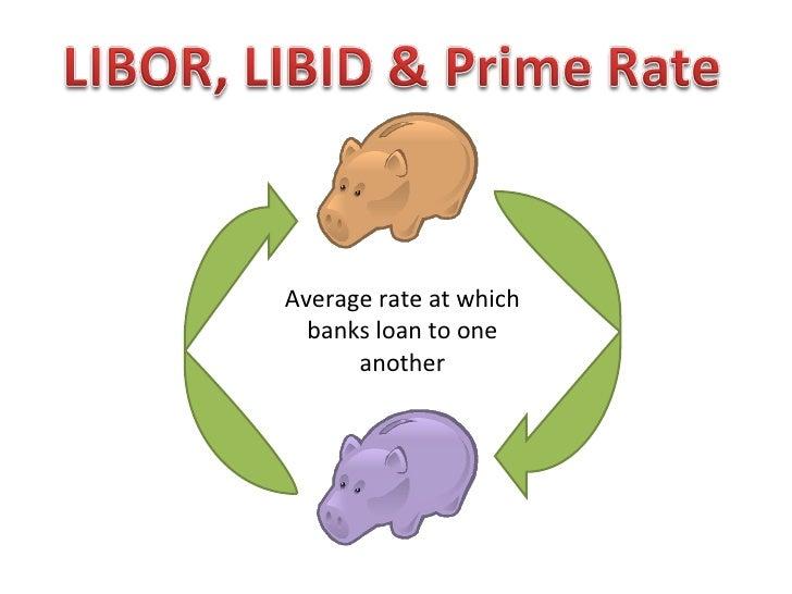 <ul><ul><li>Average rate at which banks loan to one another </li></ul></ul>