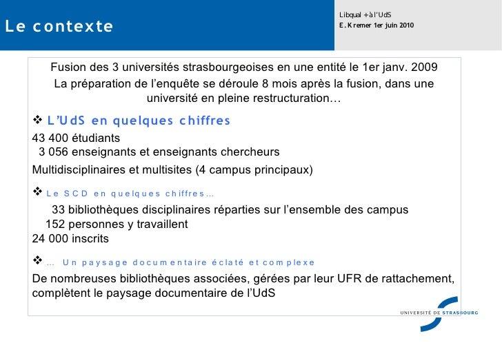 Libqual à l'Université de Strasbourg Slide 2