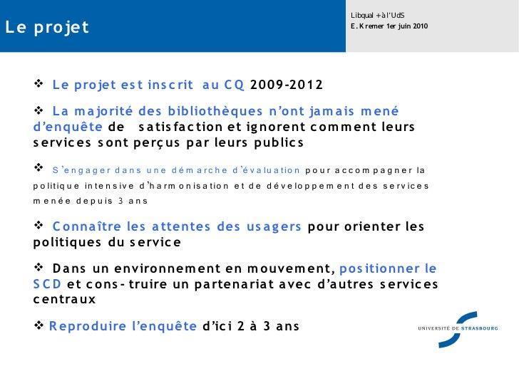 Libqual à l'Université de Strasbourg Slide 3