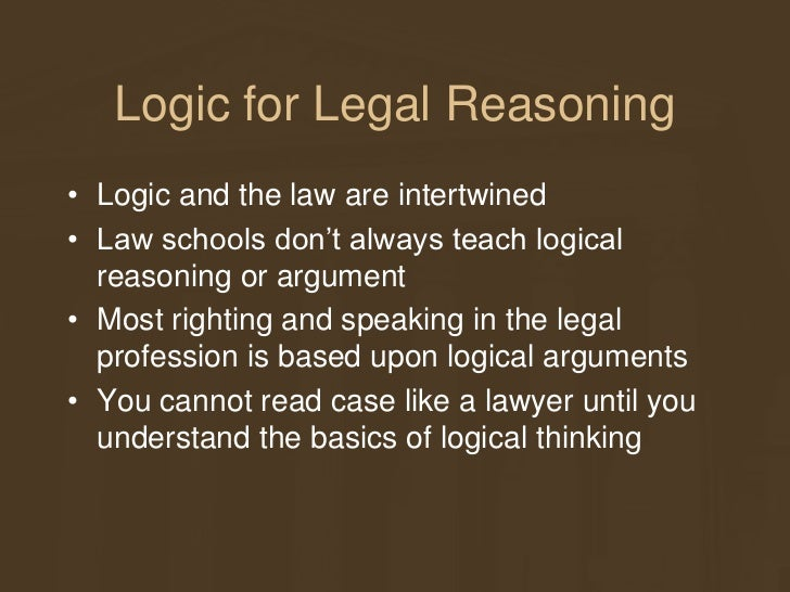 logic 101 for legal reasoning