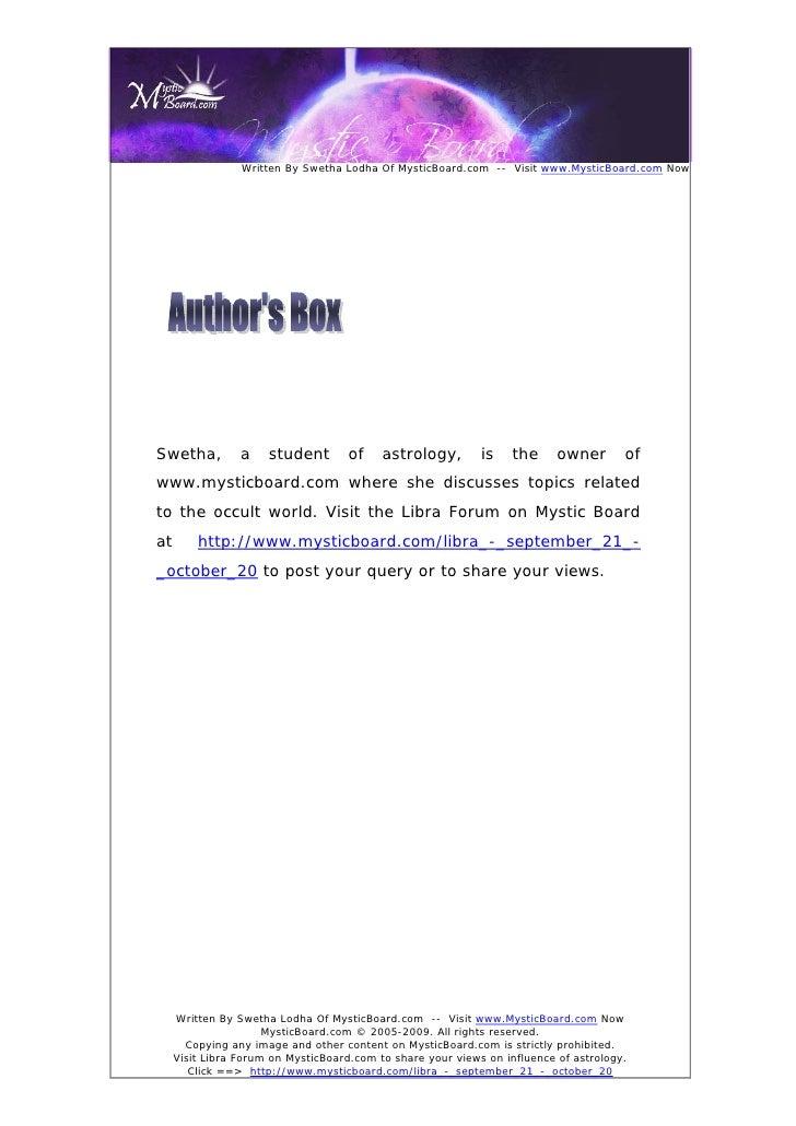 Written By Swetha Lodha Of MysticBoard.com -- Visit www.MysticBoard.com Now     Swetha,          a    student       of    ...