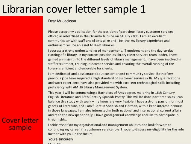 Librarian Cover Letter ...  Cover Letter For Librarian