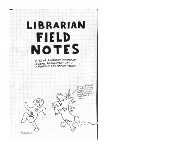 Librarian field notes digital slide version