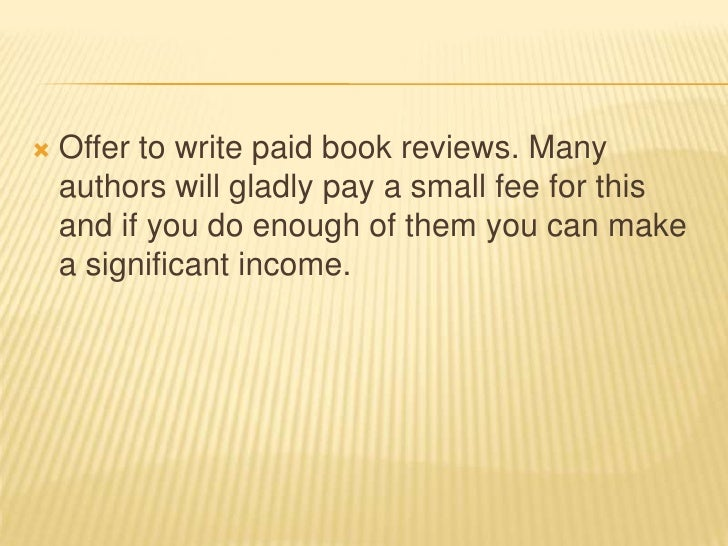 Get Paid in Cash to Write Book Reviews