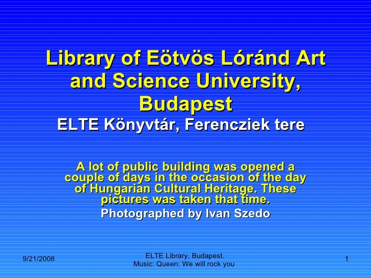 Library of Eötvös Lóránd Art and Science University, Budapest ELTE Könyvtár, Ferencziek tere  A lot of public building was...
