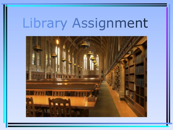 Access Database Library Assignment