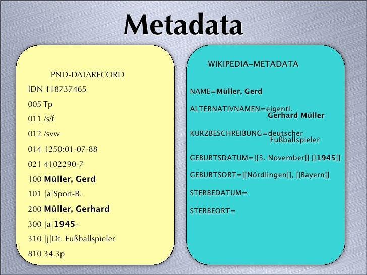 Metadata                                     WIKIPEDIA-METADATA        PND-DATARECORD IDN 118737465                   NAME...