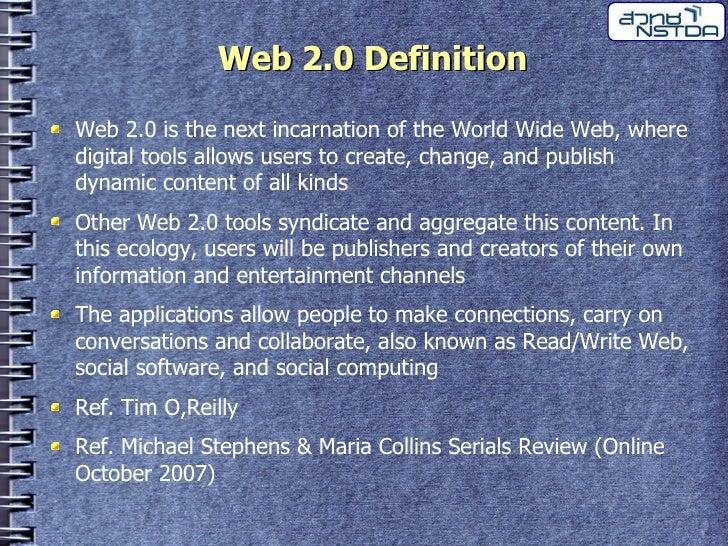Web 2.0 สู่ Library 2.0 Slide 3