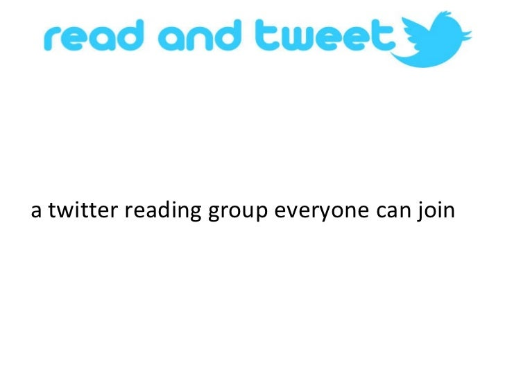 a twitter reading group everyone can join