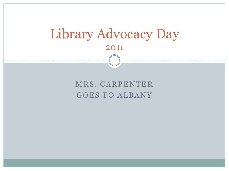 Mrs. Carpenter <br />goes to Albany<br />Library Advocacy Day 2011<br />