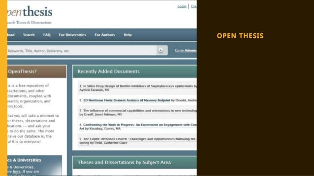 theses and dissertations in library science Proquest dissertations and theses (formerly known as dai, dissertation abstracts international)  proquest library science proquest materials science collection.