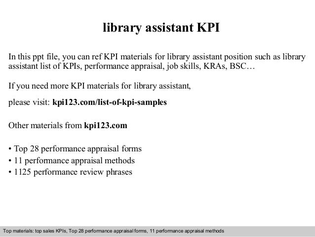 Library Assistant KPI In This Ppt File, You Can Ref KPI Materials For Library  Assistant ...