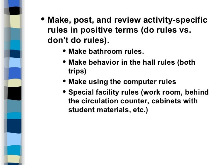 School Bathroom Rules creating the ideal team for positive discipline in the school library…