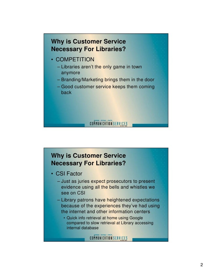 Library branding marketing and customer service part 2 for Electronic document delivery service