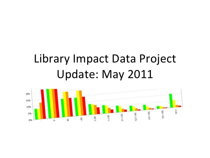 Library Impact Data Project Update: May 2011