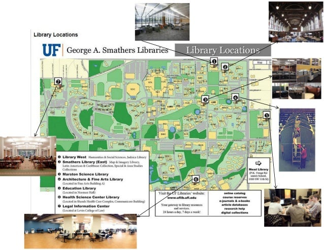 UF Liry Locations Map Uf Liry West Campus Map on