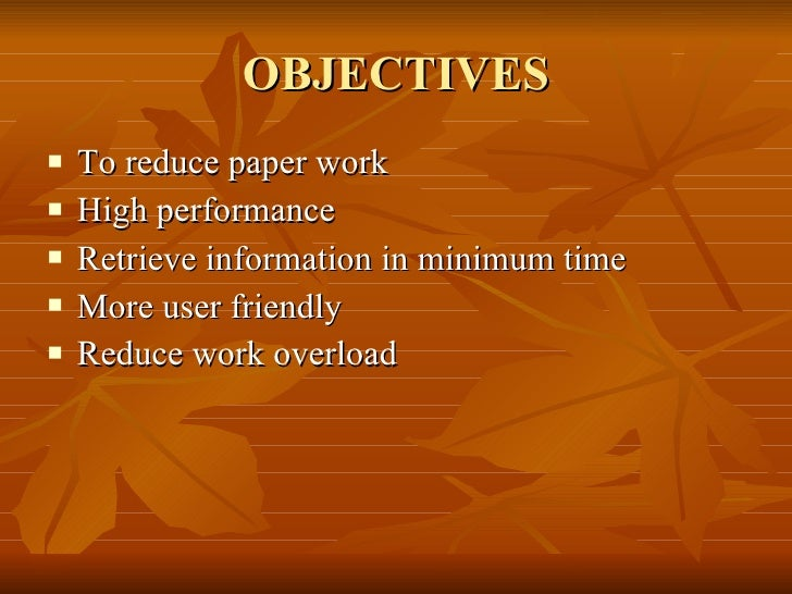specific objectives of library management system