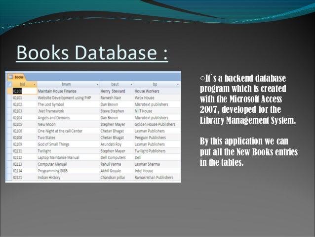 book database freeware