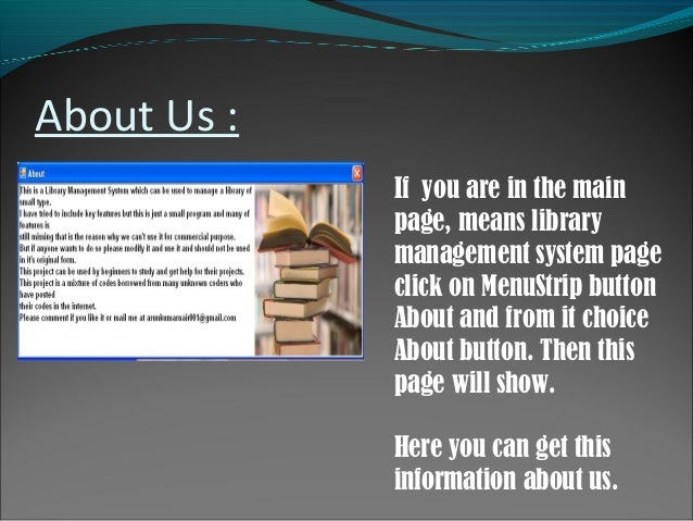 library management system documentation pdf