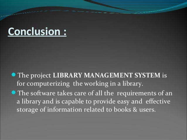 library system documentation This page contains information of library management system database design the database is a collection of information and is systematically stored.