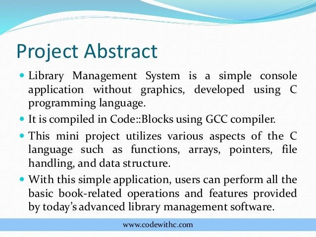 review related literature of library management system with abstract Project is related to library management which provides reading services to its members any person can become a  online library management system 23.