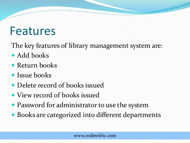 abstract of library management for diploma The graduate diploma in information and library studies is accredited as a professional course that will equip you for management of library and information.
