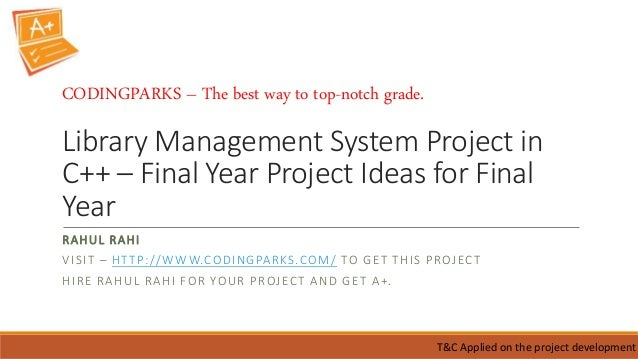 Final Year Main Projects & Mini Projects