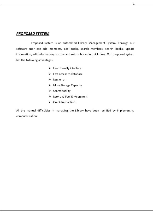 thesis library system documentation