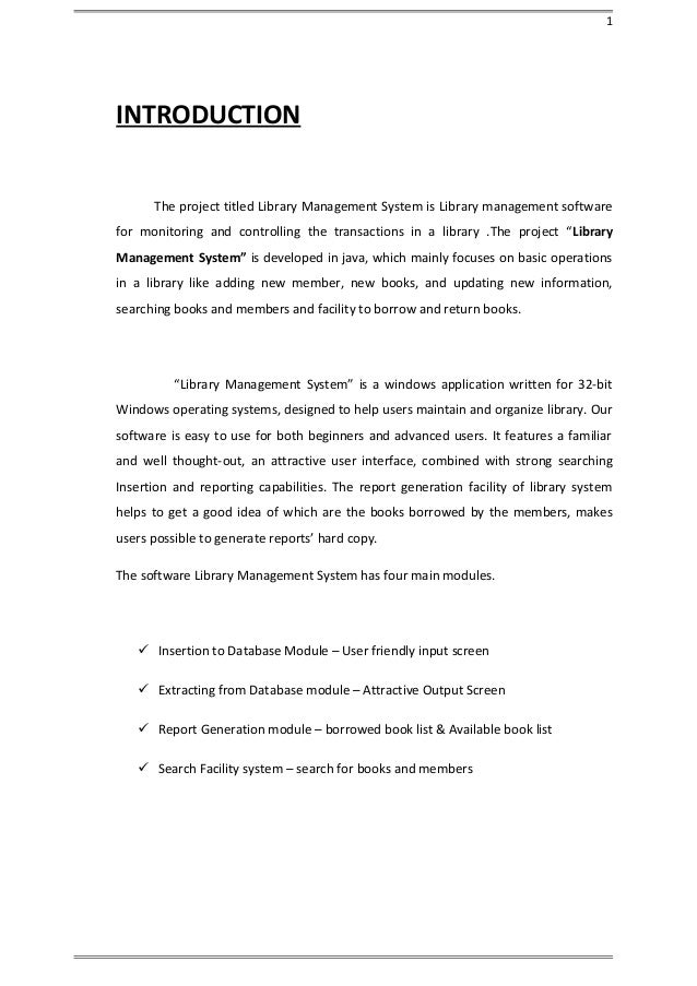 Library mangement system project srs documentation