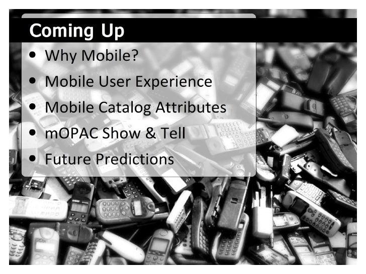 library/mobile: Developing Mobile Catalogs Slide 3