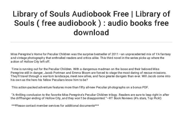 Pdf free of souls library