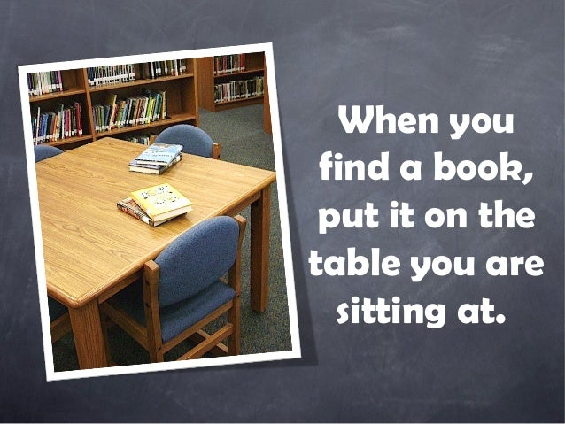 When You Find A Book Put It On Thetable Are Sitting At