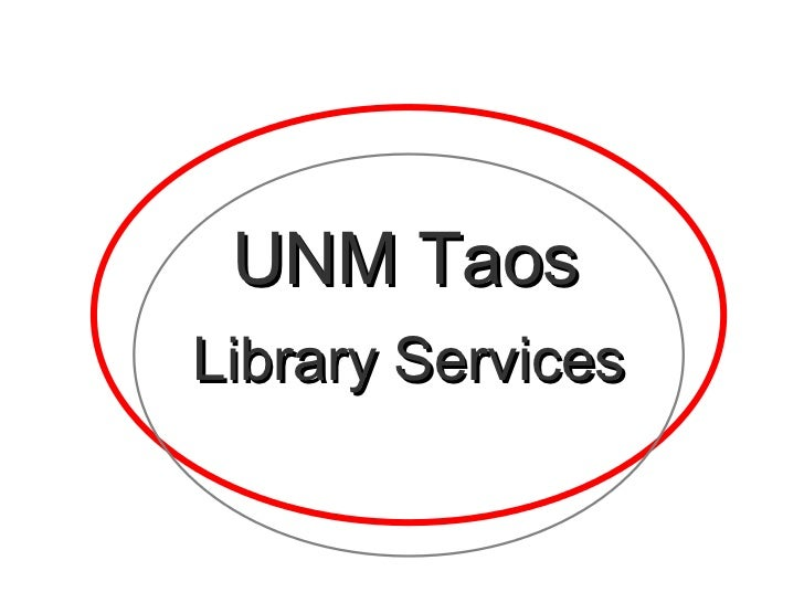 UNM Taos Library Services