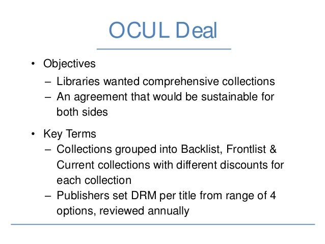 OCUL Outcome • After 18 months of negotiations arrived at a deal with OCUL • Initial deal worth over $1.75 million to date...