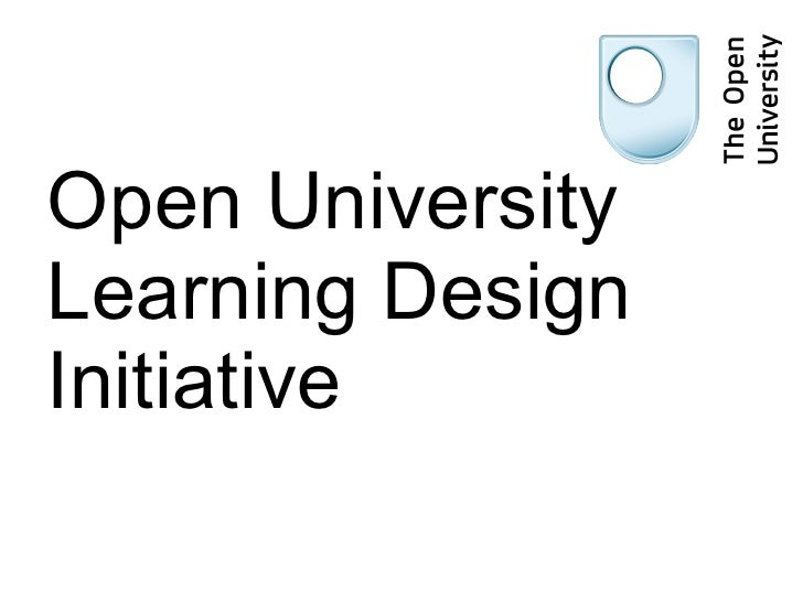Open University Learning Design Initiative