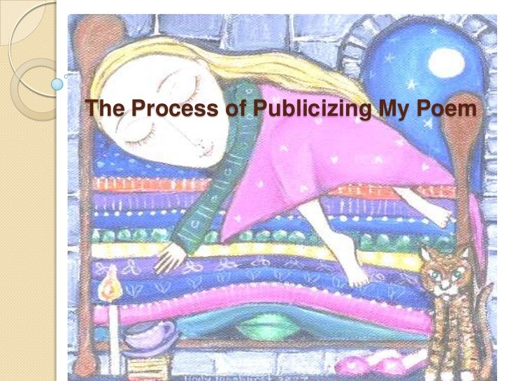 The Process of Publicizing My Poem