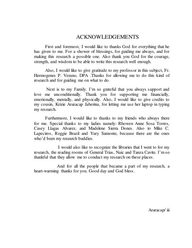 library research paper araracap ii 3 acknowledgements first